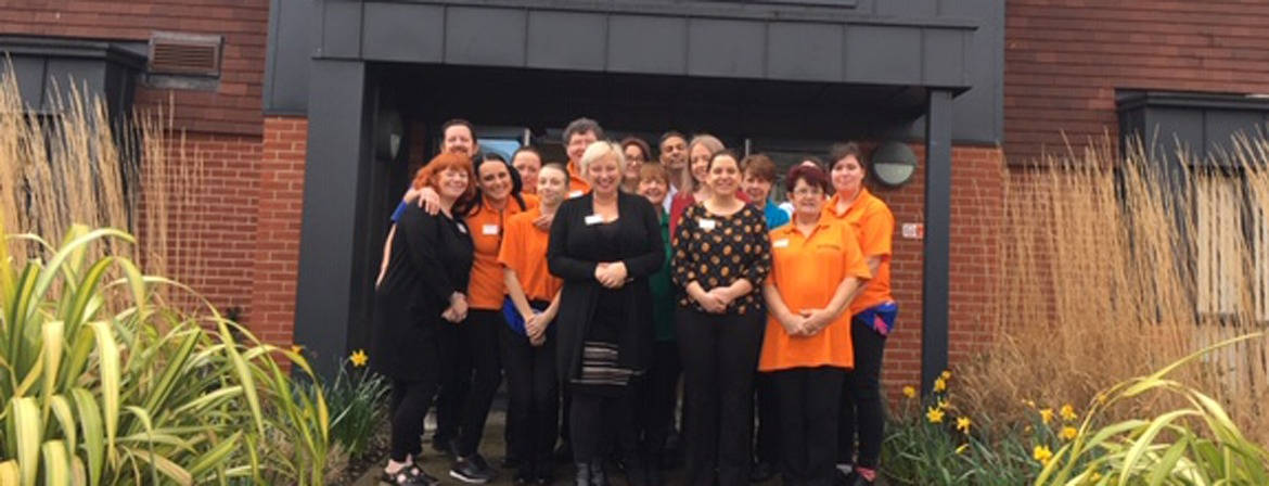A team photo of the carers at Hartford Court